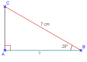 Cosinus D Un Angle Aigu Dans Un Triangle Rectangle