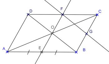 abcd est un parallelogramme de centre o